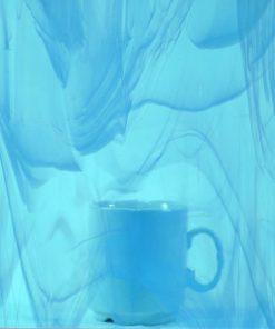 Tiffany-Glas Mosaikstreifen 15 Stück ca. 2×20 cm Oceanside Spectrum 833-91s-F transparent Himmelblau weiß